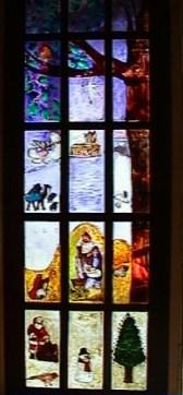 Winter Glass-Painted Summerhouse Door