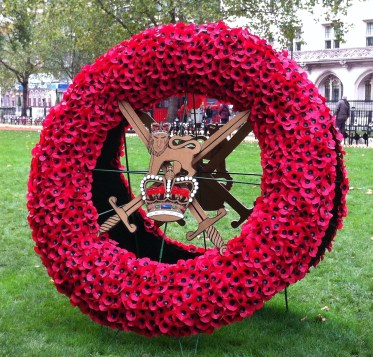 Armed Forces Wreath of Poppies at Westminster