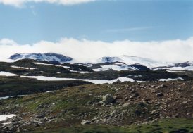 Cold and barren landscape in Norway