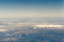 Hardanger glacier seen from plane