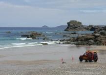 Lifeguards at trevaunance Cove