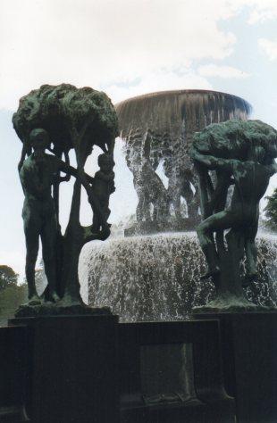 The famous sculptures, Vigelandsparken, Norway