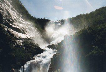 Waterfalls seen from Flam railway
