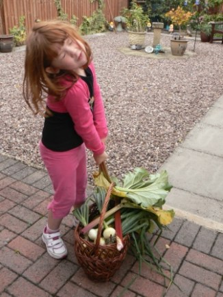 Rosie struggling with her produce