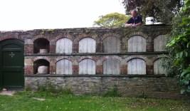 doors closed on bee boles at Lost garden of Heligan