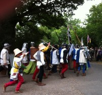 re-enactment soldiers and followers