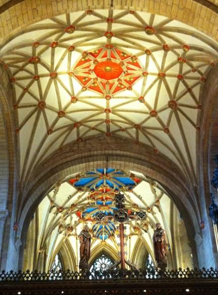 Tewkesbury Abbey with sun in splendour