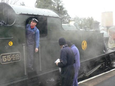 Volunteers getting the steam up