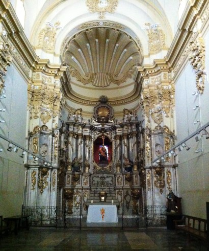 Altar in Basilica made of alabaster