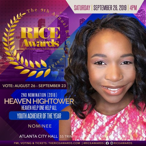 heaven hightower rice awards nomination