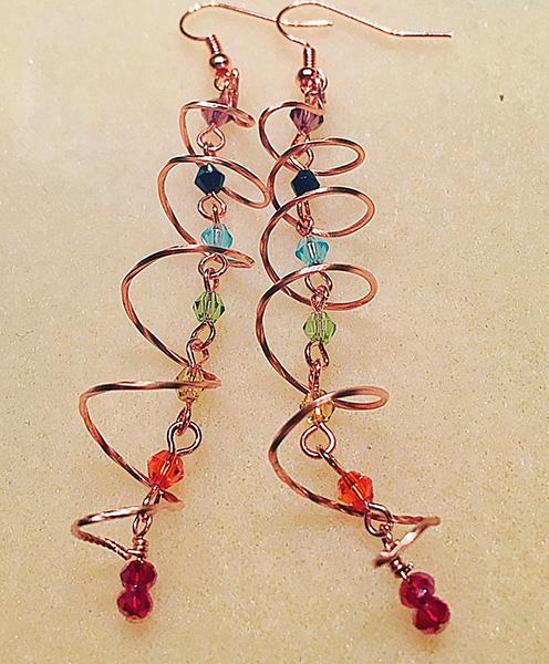 Chakra Style crystal earrings