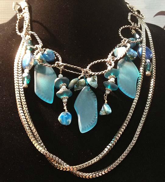 Seaglass necklace Custom Jewelry Design