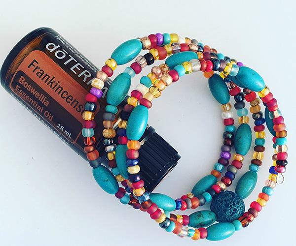 aromatherapy bracelet memory wire