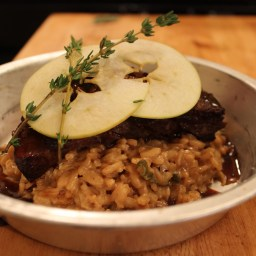 Risotto… Apple & Onion Risotto With Short Ribs & Demi-Glace