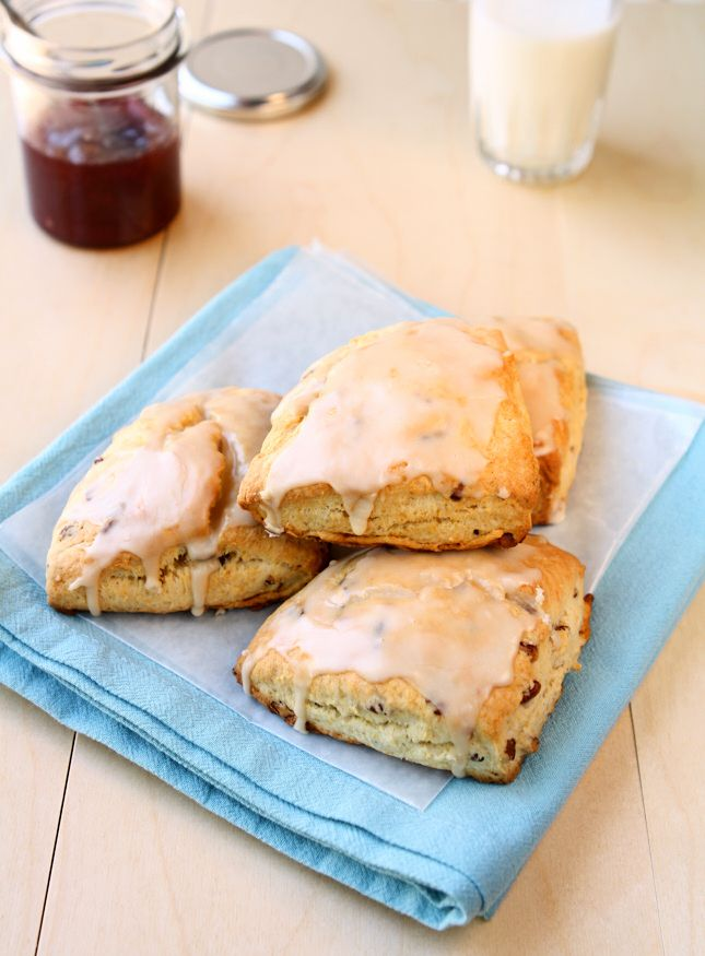 Maple Pecan Scones for Two   When you don't want to make a big batch try these delicious and simple maple pecan scones! Make one for yourself and a loved one.   www.heavenlyhomecooking.com