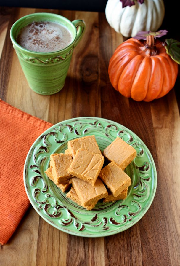 Pumpkin Pie Fudge | This decadent fudge tastes just like pumpkin pie. Truly! It is made in the traditional way on the stove top, but well worth the effort. You'll love it! | heavenlyhomecooking.com