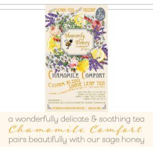 Organic chamomile tea heavenly honey