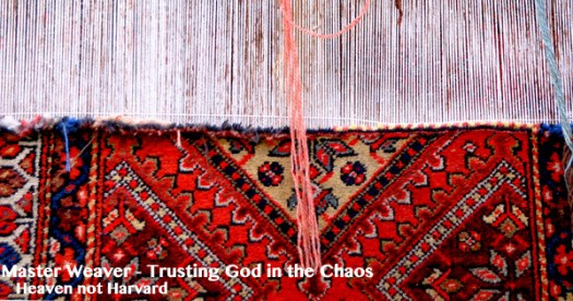 Life is the beautiful rug hiding in the mess of our trials and struggles. Trusting the Master Weaver for the beautiful life He is weaving in me.