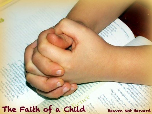 The faith of a child is magical. If we point them in His direction, God truly works in them in ways we cannot understand. Only if we all had such faith.