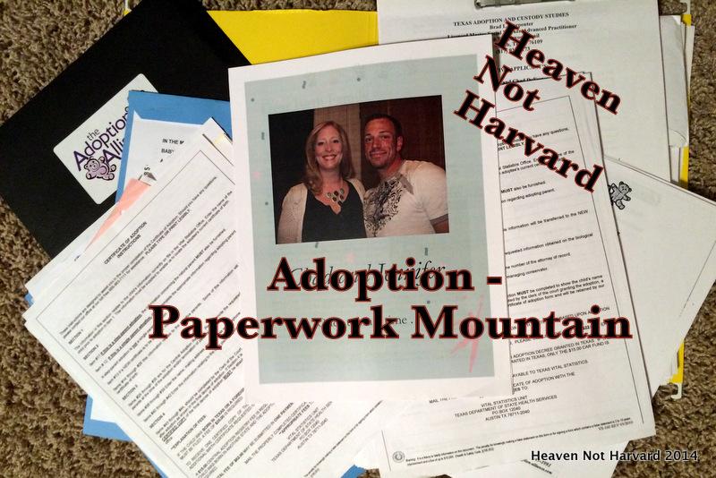 Adoption - The Paperwork Mountain