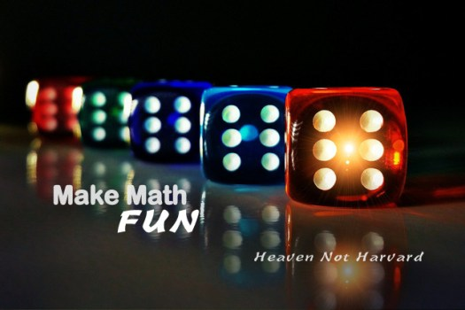 Make math FUN - Doesn't that sound hopeful? You want to make math fun for your children.Math is problem solving and puzzles. It should be fun. Why isn't it?