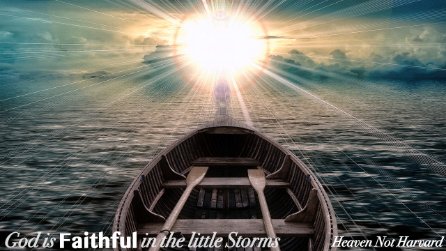 God is faithful in all things, even little storms. Nothing happens that he cannot restore, redeem, and use. Sometimes, I forget this truth and need reminding.