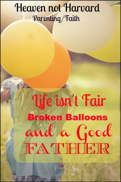 """Life isn't fair!"" she sobbed, holding her broken balloon. ""I wanted to show daddy!"" In that moment my minivan became a place of ministry to both of us."