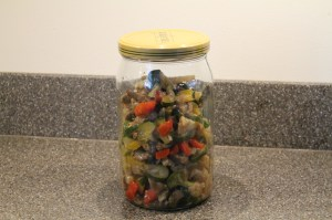 Leftover stir fry in jar HeavenScentOils4U.com
