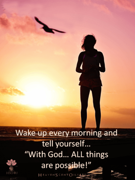 wake up every morning with god