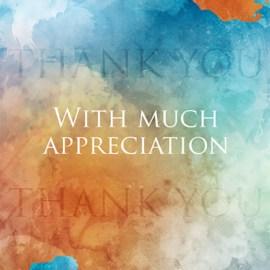 With Much Appreciation