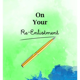 On Your Re-Enlistment