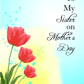 To My Sister On Mother's Day