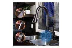 oil rubbed bronze touchless kitchen faucet