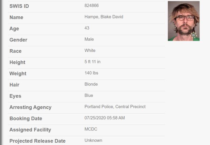 Blake Hampe jail record