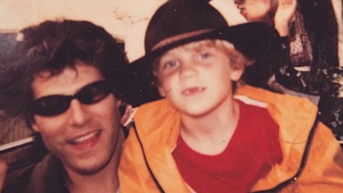 Danny Keough and son Benjamin Keough