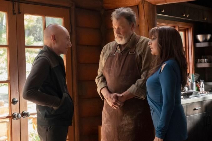 Jean-Luc Picard, William T. Riker and Deanna Troi