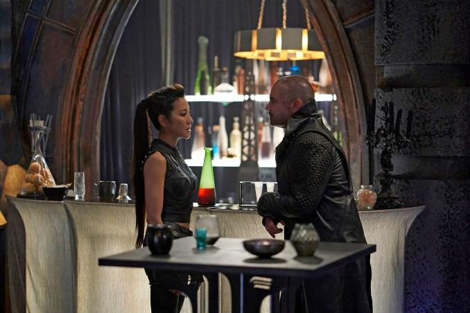 Michelle Yeoh as Philippa Georgiou; Alan Van Sprang as Leland of the CBS All Access series STAR TREK: DISCOVERY