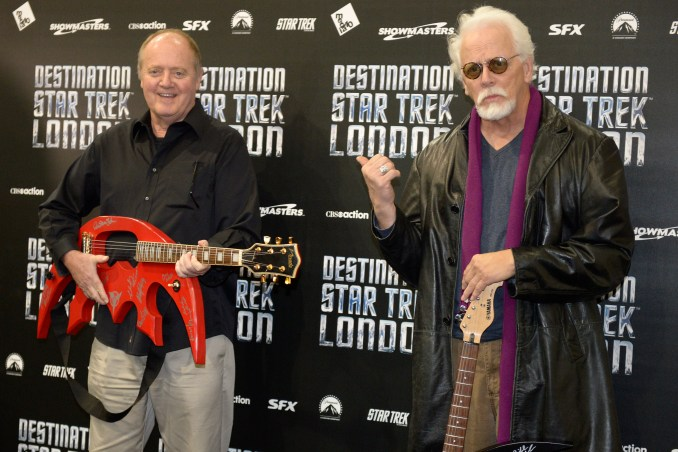 Robert O'Reilly and JG Hertzler attend a photocall at Destination Star Trek London at ExCel on October 19, 2012 in London, England.