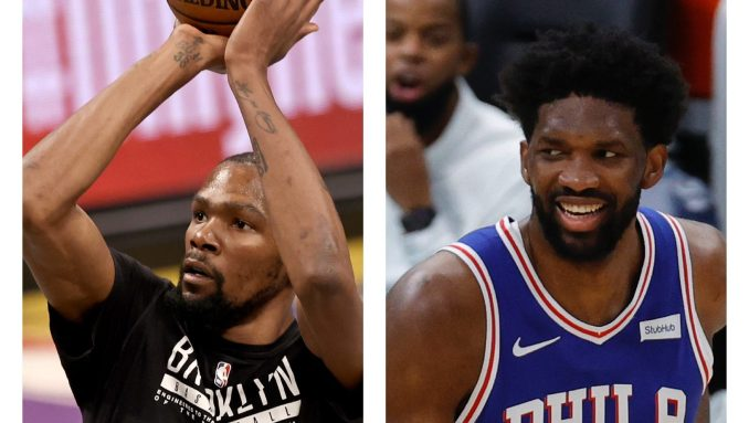 Kevin Durant and Joel Embiid