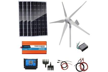 Auecoor 1,200 Watt Wind and Solar Power Kit