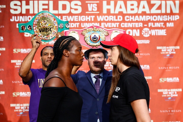 claressa shields vs ivana habazin rescheduled for friday january 10 live on showtime heavy bag boxing