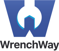 WrenchWay logo, and their goal and helping repair shops keep technicians.