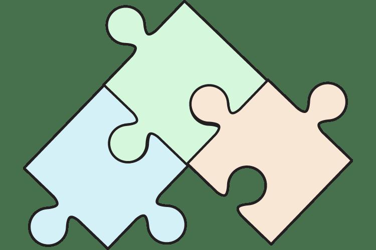 Puzzle pieces put into place