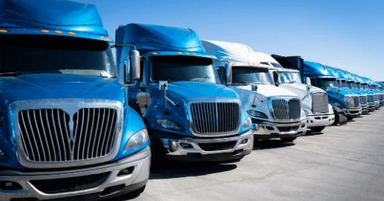 Fleet of trucks.