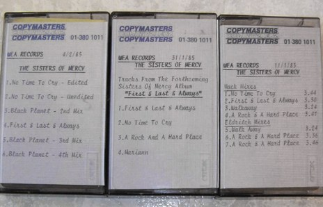 WEA in-house tapes, 1985.