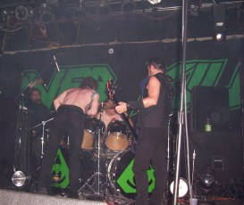 Overkill, Joe's Bar, Chicago, IL 4-17-05. Picture by Heavy Metal Feline.