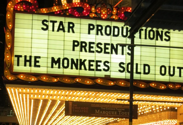 The Monkees at Chicago Theatre, Nov. 16, 2012. Photo by me.