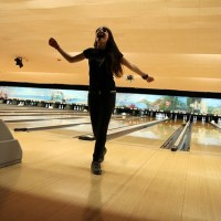 ROCKER GABBIE RAE AT CELEBRITY ROCK N BOWLING EVENT pictures by JOE DOLAN