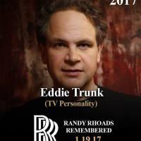 EDDIE TRUNK TO HOST RANDY RHOADS REMEMBERED at YOST THEATER during NAMM