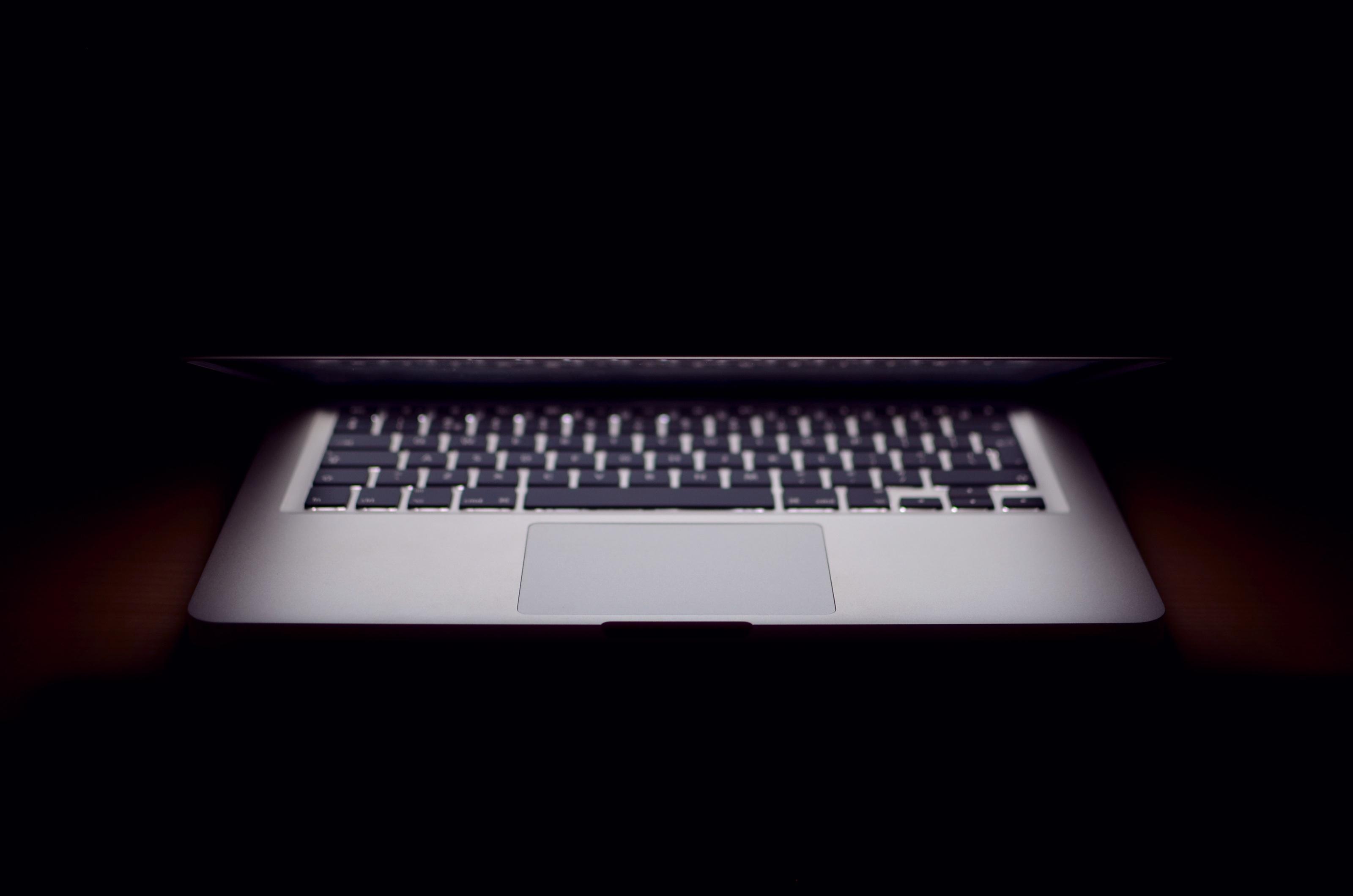 half-opened-macbook-laptop
